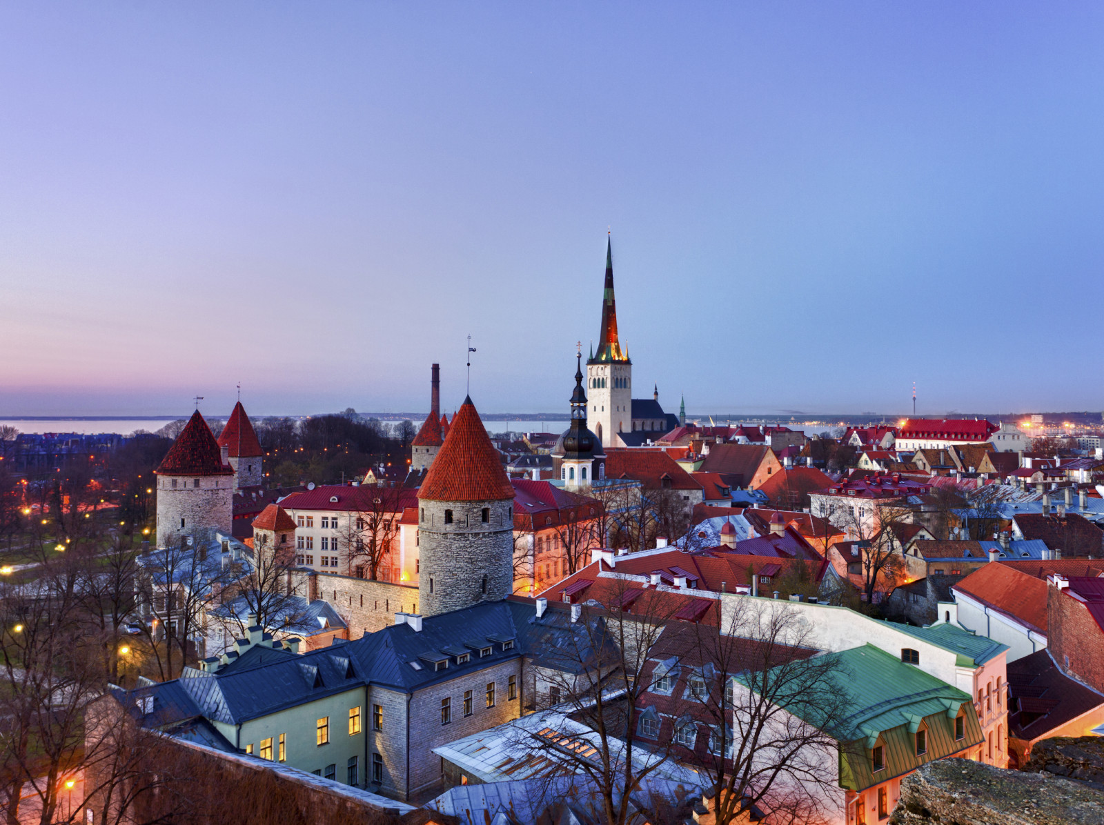 Old town of Tallinn Estonia
